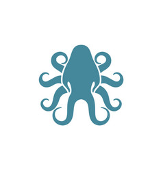 squid logo design vector image