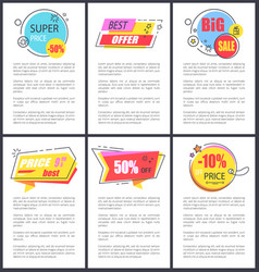 super price -50 and big sale vector image