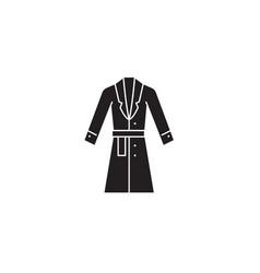 topcoat winter coat black concept icon vector image