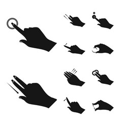 Touchscreen and hand sign vector