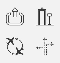 Travel icons set collection of flight path vector