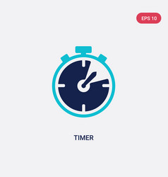 Two color timer icon from hockey concept isolated vector