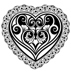 Valentines day tatto heart vector