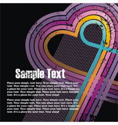 valentines grunge background vector image
