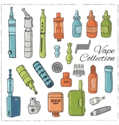 vape icons vector image