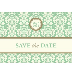 vector green date background vector image