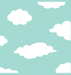 white cloud set on the sky fluffy clouds cute vector image