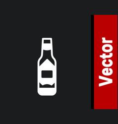 White tabasco sauce icon isolated on black vector