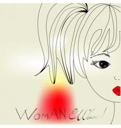 woman's head vector image