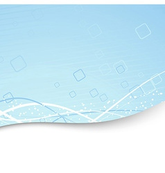 Modern folder template - blue geometry vector image vector image