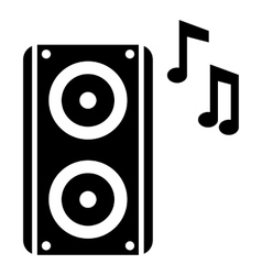 Subwoofer icon simple style vector image vector image