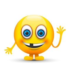 toothless emoji character vector image vector image