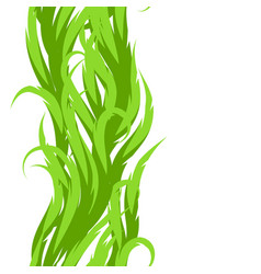 abstract grass seamless pattern decorative swirly vector image vector image
