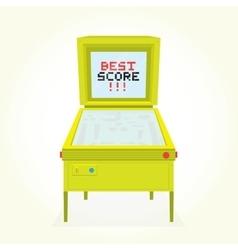 Best score retro pinball game machine vector image vector image