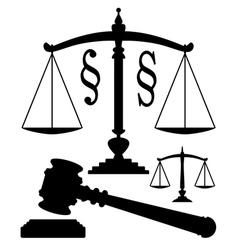 juridical symbols vector image