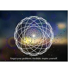 mandala on beautiful background vector image