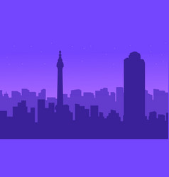 silhouette of london city building landscape vector image vector image