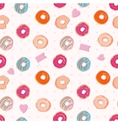 Beautiful seamless pattern with colorful vector image vector image
