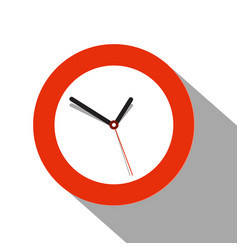 clock flat icon on white background vector image