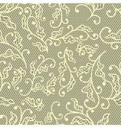 Old lace background floral ornament texture vector image vector image