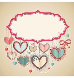 valentines postcard vector image vector image