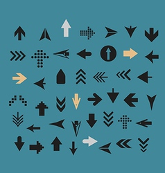Arrow sign silhouettes collection vector image vector image