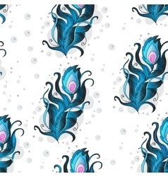 Beautiful seamless pattern with peacock vector image