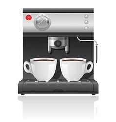 coffee maker 04 vector image vector image