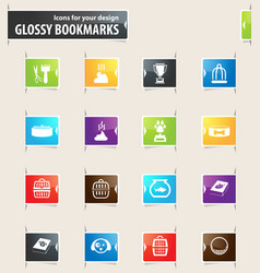 goods for pets bookmark icons vector image