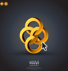 impossible circles vector image vector image