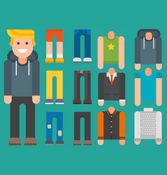 man constructor body avatar creator cartoon vector image