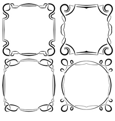 set of four beautiful framework vector image vector image