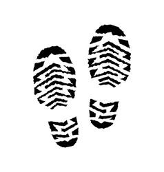 Shoe print vector image vector image