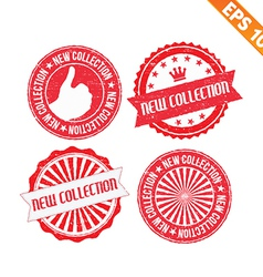 Stamp sticker new collection - - EPS10 vector image vector image
