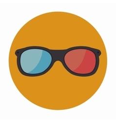 3-D glasses design vector