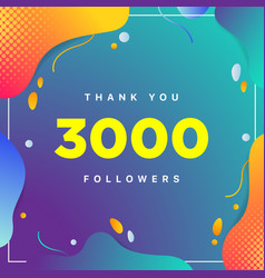 3000 or followers thank you colorful geometric vector