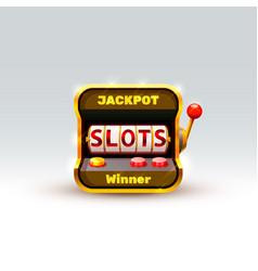 3d slots machine wins the jackpot vector