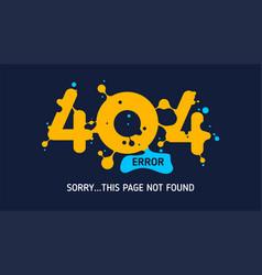 404 liquid error vector image