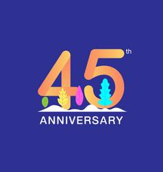 45 years anniversary celebration logotype vector