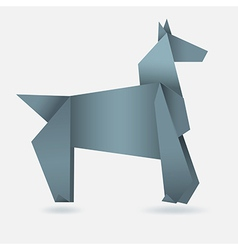 Abstract horse paper origami vector image