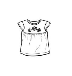 baby t-shirt hand drawn outline doodle icon vector image