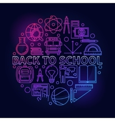 Back to school colorful sign vector image