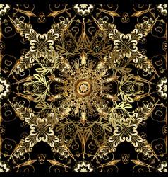 Backdrop fabric gold wallpaper golden pattern on vector