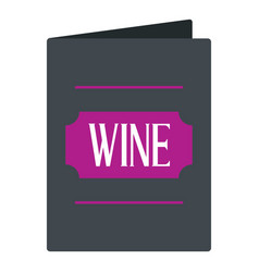 black wine card icon isolated vector image