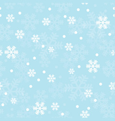 blue christmas snowflakes seamless pattern vector image