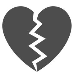 Broken Heart Flat Icon vector