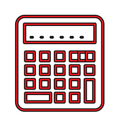 Calculator perfect icon or pigtogram in filled vector