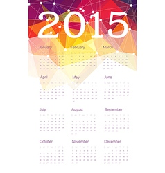 Calendar 2015 triangles vector