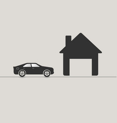 car driving to garage vector image
