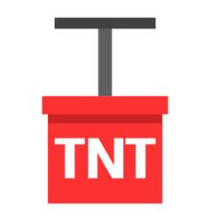 cartoon detonator tntexplosive object isolated vector image